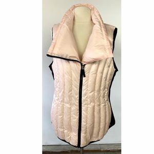 Calvin Klein down vest pink 2X zip up asymmetric